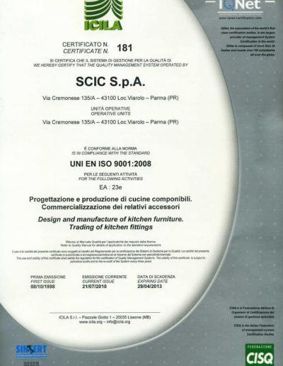 Certificato ICLA scic