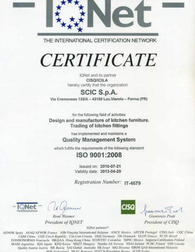 certificato IQNet scic